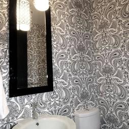 简洁现代家居设计洗手间马桶装修效果图