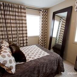 现代风格经典时尚别墅男孩卧室窗户窗帘装修效果图片