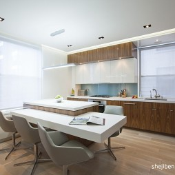 家装四居室现代餐厅不吊顶装修效果图