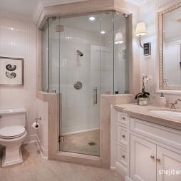 欧式风格别墅主卫生间淋浴房装修效果图片