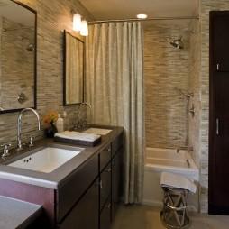 混搭风格时尚主卫生间马赛克瓷砖墙面装修效果图片