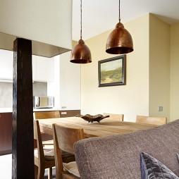 现代两室一厅餐厅装修装修效果图