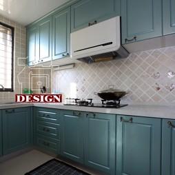 田园风格L型开放式7平米厨房装修效果图