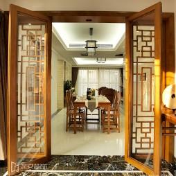 中式客厅餐厅门效果图