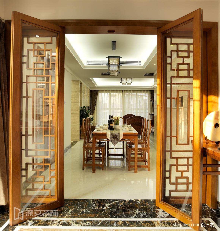 现代风格吊灯模型_中式客厅餐厅门效果图 – 设计本装修效果图