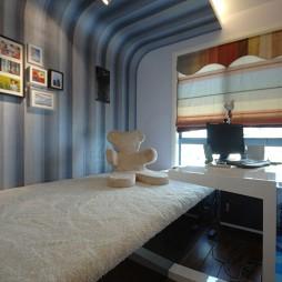 2017现代风格两室一厅创意书房榻榻米设计装修效果图