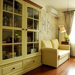 2017欧式风格两室一厅宜家书房书柜装修效果图