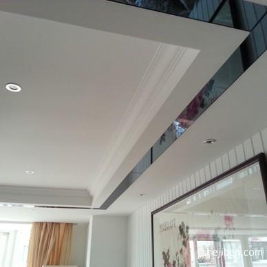 欧式客厅吊顶墙角线效果图