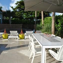 迈阿密清新简约别墅的线条美现代休闲区装修效果图