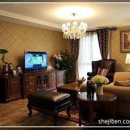 美式风格客厅整体空间效果图