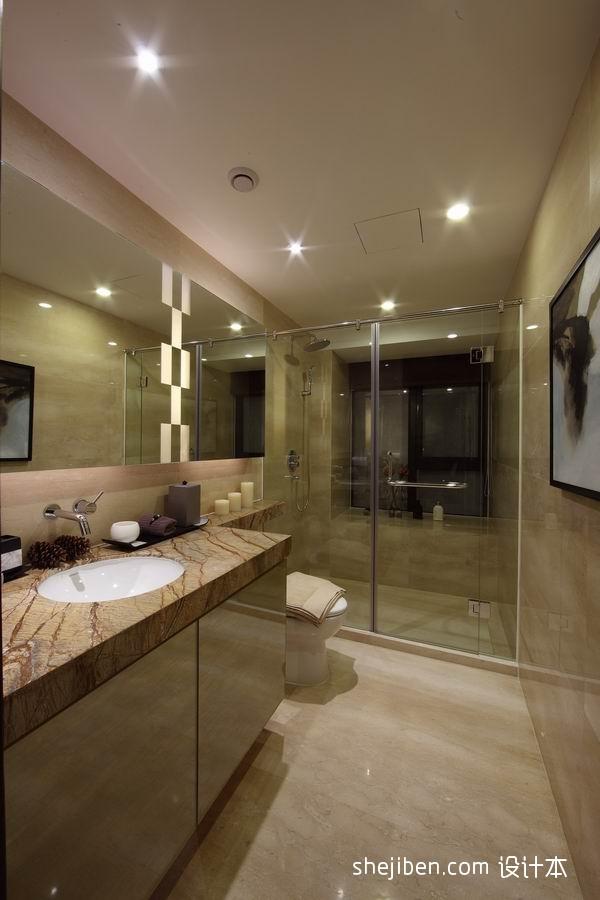 热门资讯_2013中式风格样板房长方形主卫生间淋浴房装饰画装修效果图 – ...