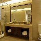 2013混搭风格样板房室内卫生间淋浴房洗手间镜子装修效果图