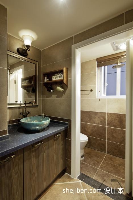 生活资讯_混搭风格二室一厅小卫生间干湿分离淋浴房洗手台装修图片 – ...