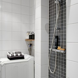 2017现代风格小户型家庭小卫生间淋浴房装修效果图