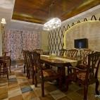 美式别墅餐厅吊顶效果图