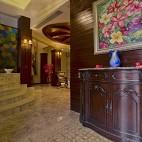 2017美式风格别墅客厅豪华精美玄关装饰柜装修效果图片