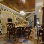 美式风格别墅餐厅设计装修效果图