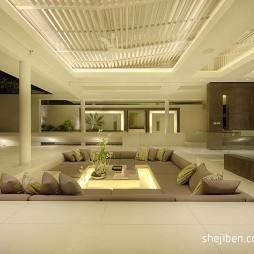 东南亚风格错层客厅设计效果图