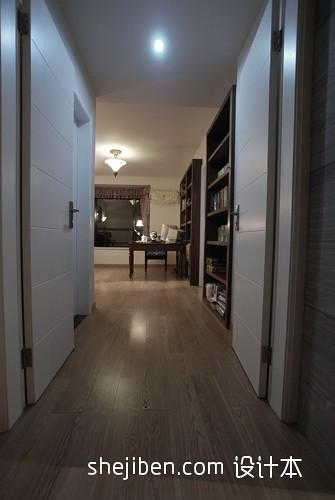 走廊杉木地板效果图