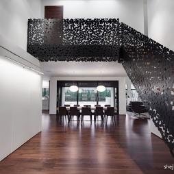 2017现代风格别墅楼梯护栏装修效果图欣赏