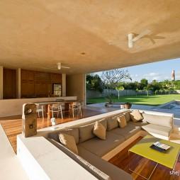 现代家庭客厅装修效果图