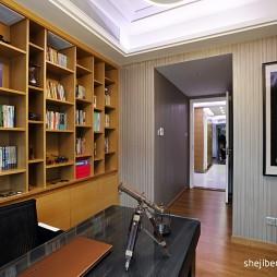 书房转角书柜设计效果图