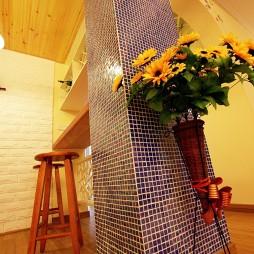 2017田园风格开放式板式家用吧台装修效果图片