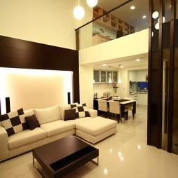 汇总样品房现代客厅创意吊灯装修效果图