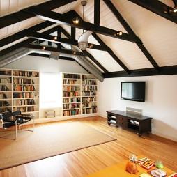阁楼书房装修效果图片