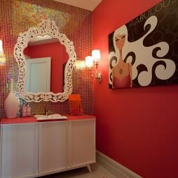 现代风格马赛克瓷砖洗手间装修效果图