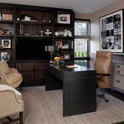 现代风格两室一厅最热门书房书柜装修效果图