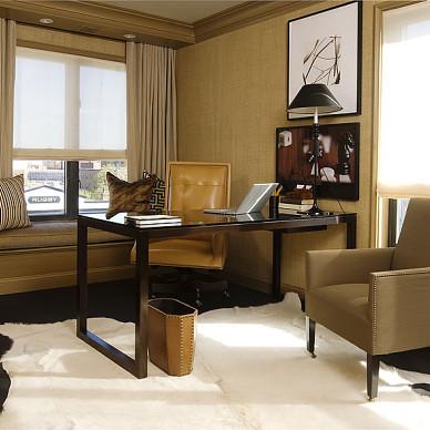 欧式风格两室一厅休闲阁楼书房装修效果图