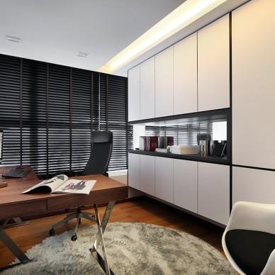 2017现代风格小户型简洁最新书房书柜装修效果图欣赏