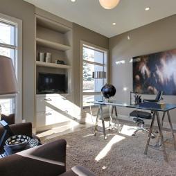 现代风格三室一厅书房书柜家具装修效果图