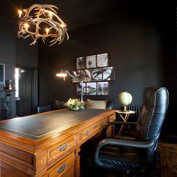 2017新古典风格三室一厅时尚家居书房创意灯光装修效果图