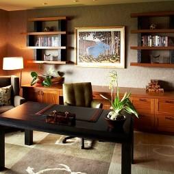 2017现代风格三室一厅多功能书房家具装修效果图