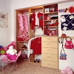 儿童房入墙衣柜装修图片
