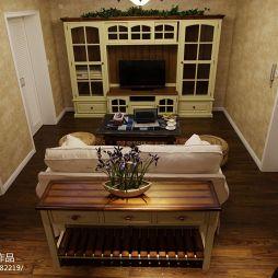 美式别墅经典休闲区电视背景墙装修效果图