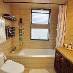 混搭风卫生间浴缸效果图片欣赏