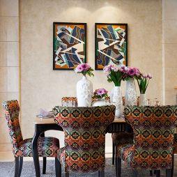 东营绿城文化公园A古典新生混搭餐厅背景墙装修效果图