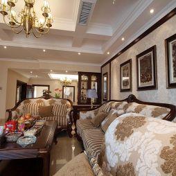 春天国际家装四居室多梁客厅吊顶沙发效果图