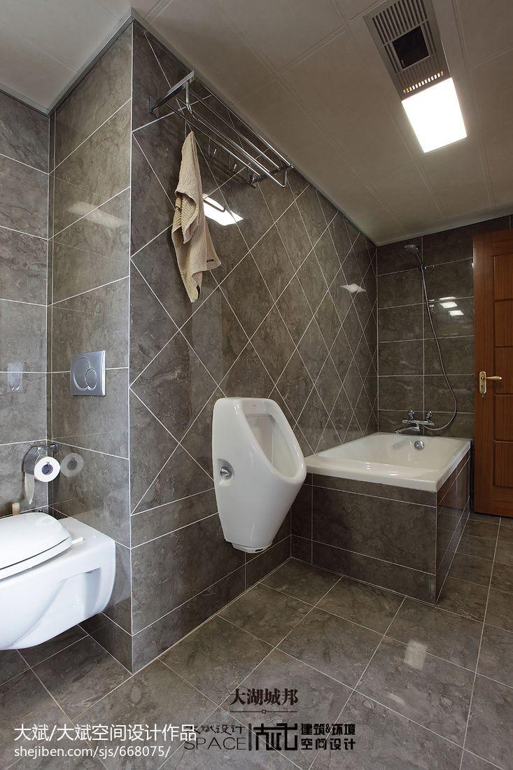 生活资讯_新中式三居室卫生间瓷砖效果图 – 设计本装修效果图
