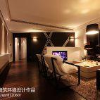 现代风格室内木地板简装客厅过道吊顶效果图