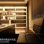 温州鑫城大厦住宅设计现代书房书柜装修效果图
