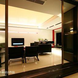 温州名豪园住宅设计现代休闲区移门装修效果图