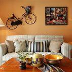 家居客厅沙发背景墙挂画摆放布置效果图
