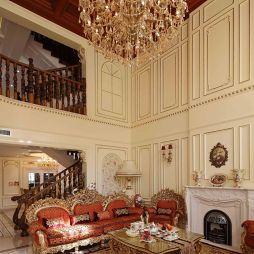 虹景别墅楼梯实木客厅吊顶扶栏设计图
