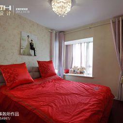 沙发社区简约婚房现代卧室装修效果图