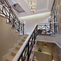 欧式奢华别墅楼梯扶手装修效果图