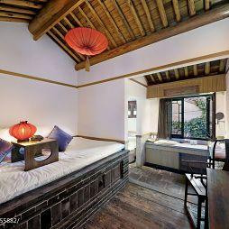 卧室榻榻米藻井式吊顶装修效果图